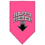 Happy Meter Screen Print Bandana Bright Pink Small
